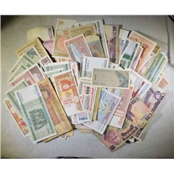 OVER 200 PIECES RANDOMLY SELECTED FOREIGN CURRENCY
