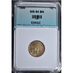 1889 INDIAN CENT, EMGC CH/GEM BU BN