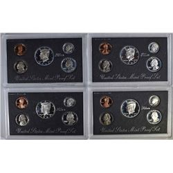 1992-95 U.S. SILVER PROOF SETS ORIG PACKAGING