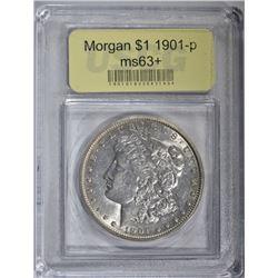 1901 MORGAN DOLLAR USCG GRADED CH BU