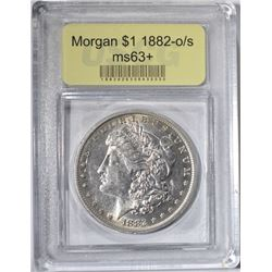 1882-O/S MORGAN DOLLAR USCG GRADED CH BU