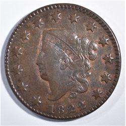 1822 LARGE CENT  AU+