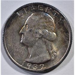 1932-S WASHINGTON QUARTER  GEM BU