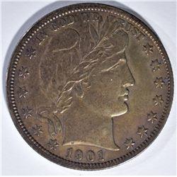 1901-S BARBER HALF DOLLAR  XF