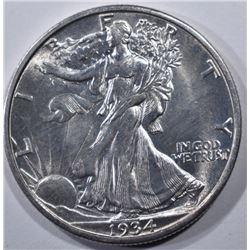1934-S WALKING LIBERTY HALF DOLLAR  CH BU+