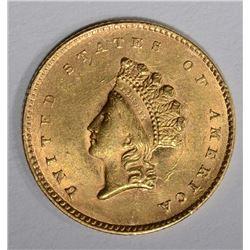 1855 $1.00 GOLD  CH BU