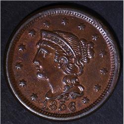1856 LARGE CENT  CH BU