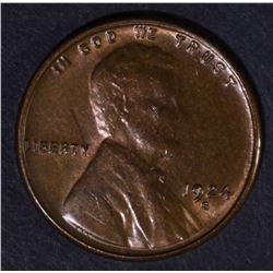 1924-S LINCOLN CENT  GEM BU RB