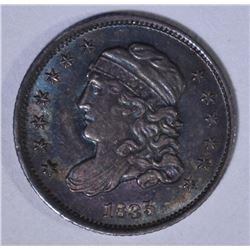 1835 CAPPED BUST HALF DIME  AU/BU