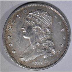 1834 CAPPED BUST QUARTER  AU/BU