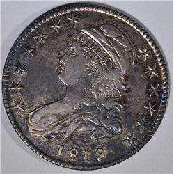 1819 CAPPED BUST HALF DOLLAR  AU+