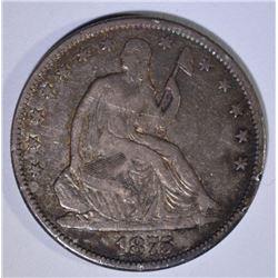 1875-CC SEATED LIBERTY HALF DOLLAR  VF