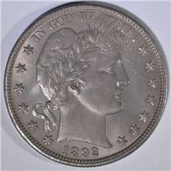 1892-O BARBER HALF DOLLAR  BU