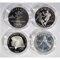 4 PROOF SILVER DOLLARS