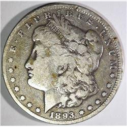 1893-CC MORGAN DOLLAR, FINE