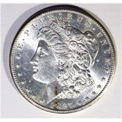 1897-S MORGAN DOLLAR, CH BU