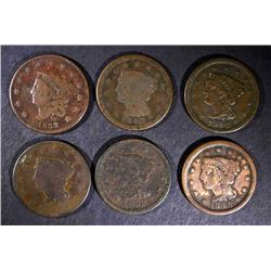 1832, 42, 46, 2-48 & 1853 LARGE CENTS