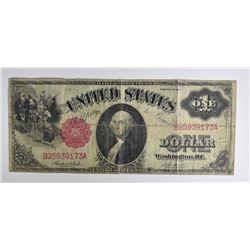 1917 $1.00 LEGAL TENDER NOTE, NICE