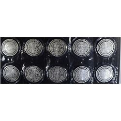 10-ONE OUNCE .999 SILVER ROUNDS