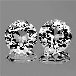 Natural White Topaz Pair 10 mm {Flawless-VVS1}
