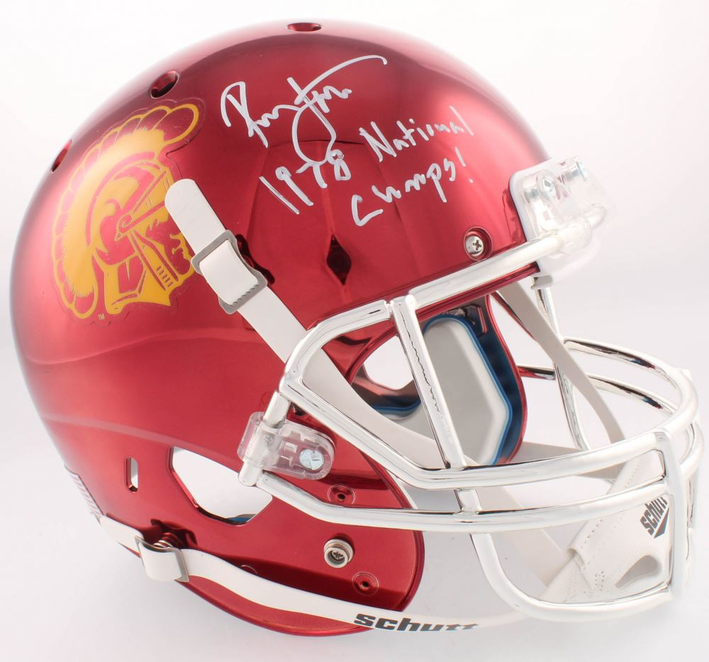756a736d2 Image 1   Ronnie Lott Signed USC Trojans Custom Chrome Full-Size Helmet  Inscribed