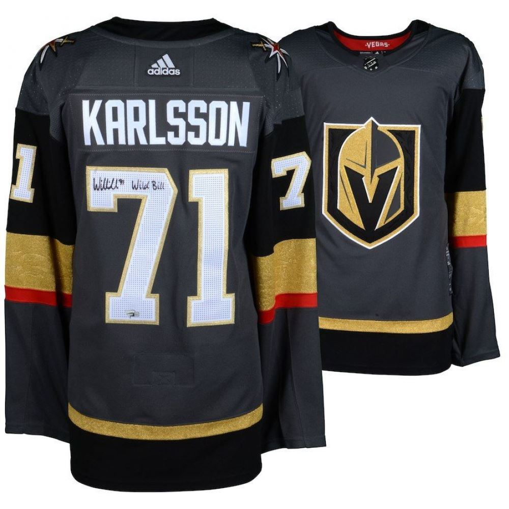brand new c7d56 7d7f8 William Karlsson Signed Golden Knights Adidas Jersey ...