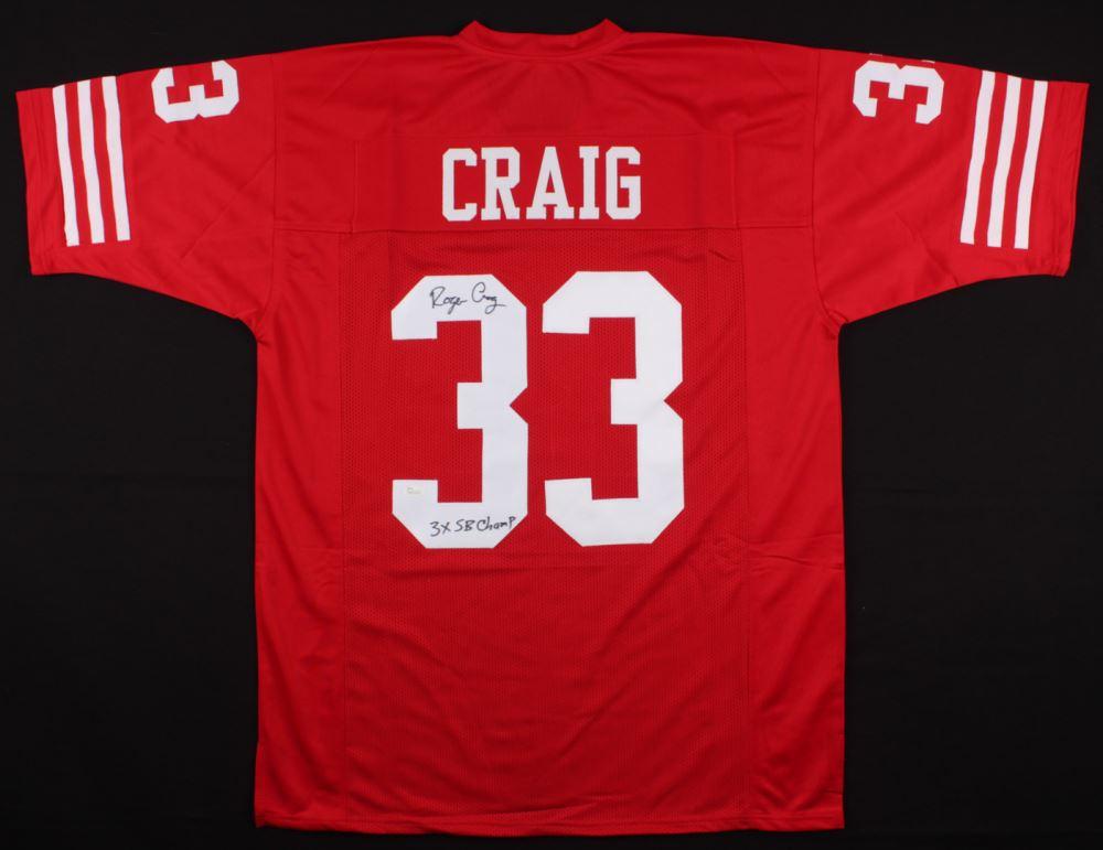 224d0ef1f Image 1   Roger Craig Signed 49ers Jersey Inscribed