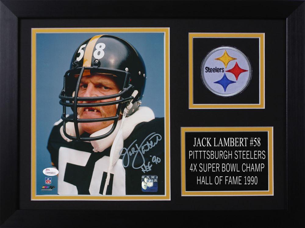 f7a2a74599d Image 1   Jack Lambert Signed Steelers 14x18.5 Custom Framed Photo Display ( JSA