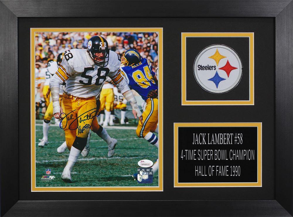 7b86494133e Image 1   Jack Lambert Signed Steelers 14x18.5 Custom Framed Photo Display ( JSA