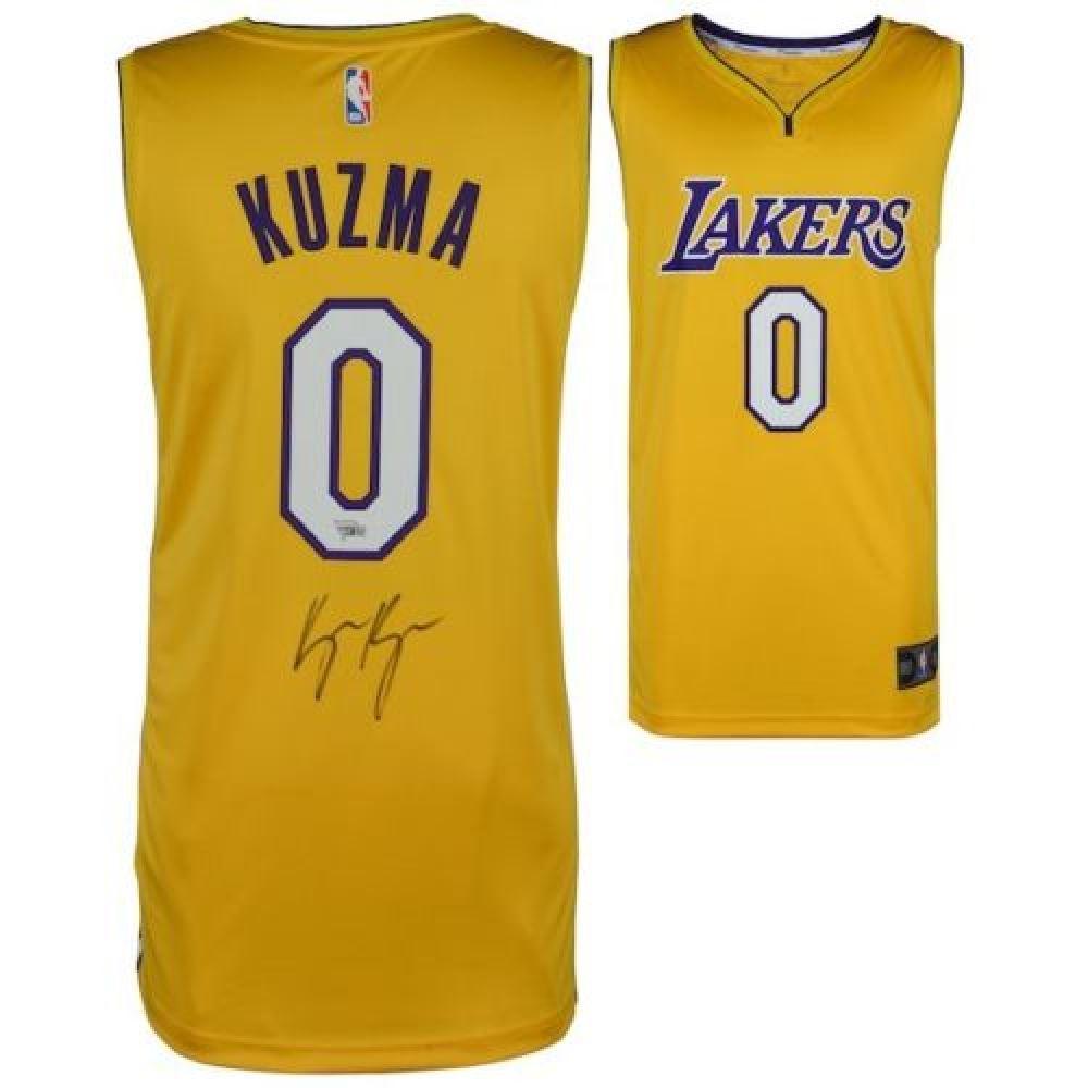 huge selection of 087fd 95469 Kyle Kuzma Signed Lakers Fanatics Jersey (Fanatics Hologram)