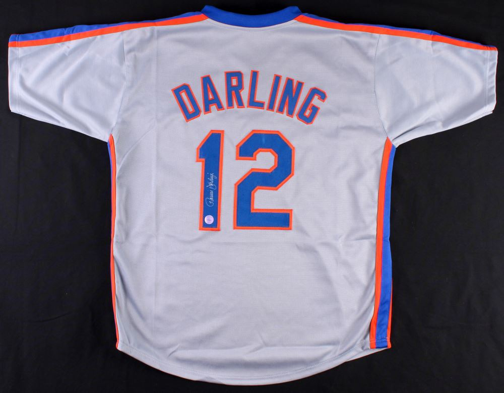 huge selection of 21452 86ccb Ron Darling Signed Mets Throwback Jersey (Diamond ...