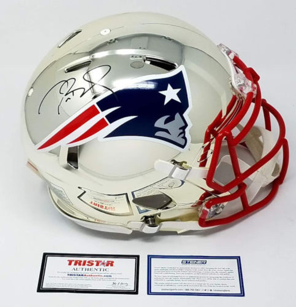 buy online 171b3 7238f Tom Brady Signed Patriots LE Chrome Full-Size Authentic On ...