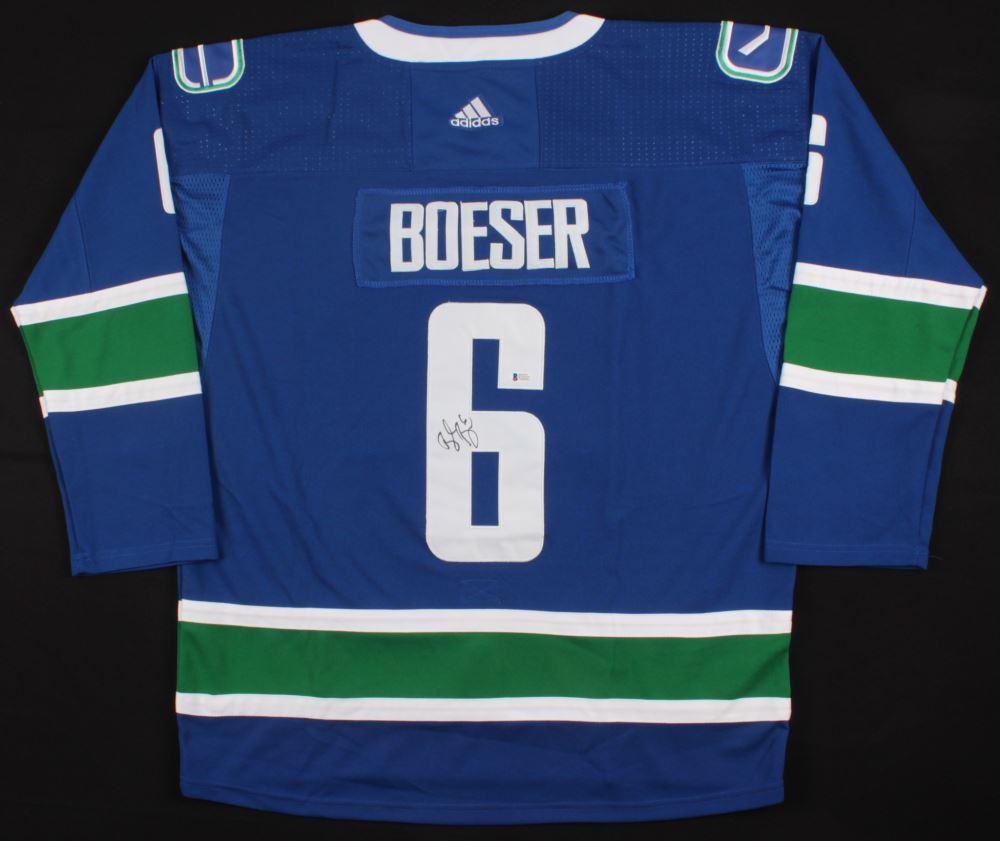 meet 543bb c0106 Brock Boeser Signed Canucks Jersey (Beckett COA)