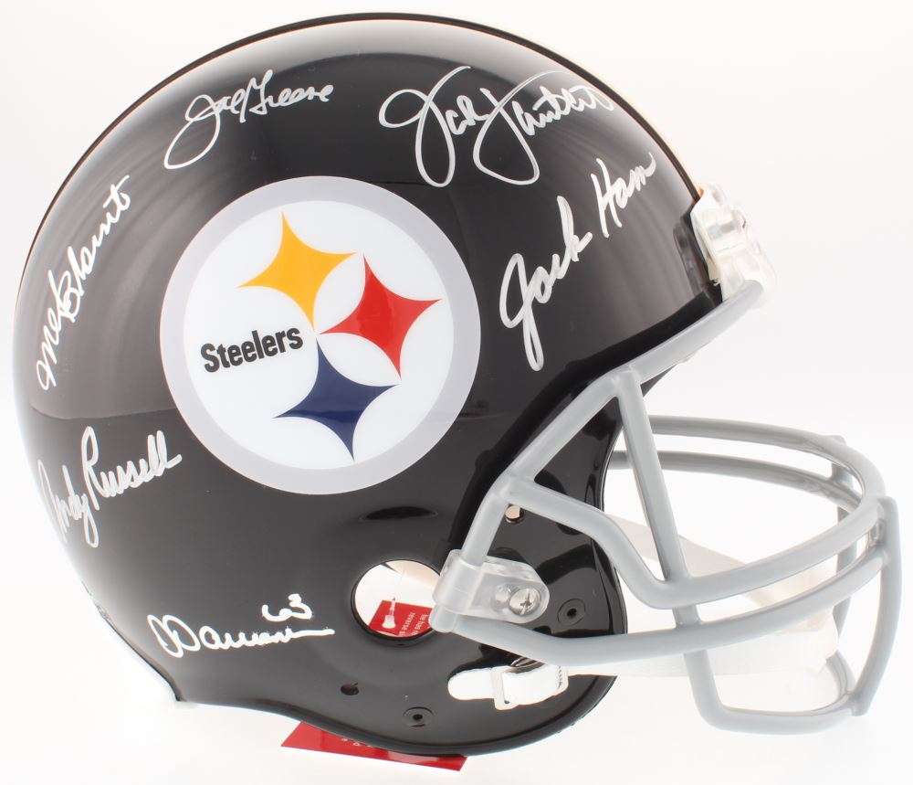 3488450a701 Loading zoom · Image 1   Steelers Legends Full-Size Helmet Signed by (6)  with Jack