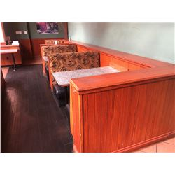 2 - 4 PERSON BOOTH SEATS, 1 - 2 PERSON BOOTH SEAT WITH 3 GRANITE WALL MOUNT TABLES, 4 - 2 PERSON