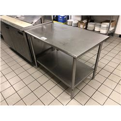 "STAINLESS STEEL 2 TIER 48"" X 30"" PREP TABLE"