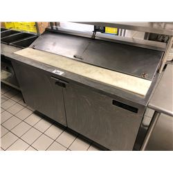 "STAINLESS STEEL TRUE  60"" X 30"" SANDWICH STATION WITH REFRIGERATION"