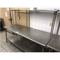 "STAINLESS STEEL 72"" X 30"" 3 TIER PREP TABLE"