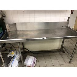 "STAINLESS STEEL 72"" X 30"" WASH TABLE"