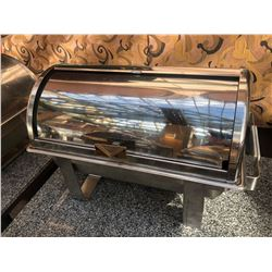 STAINLESS STEEL CHAFING DISH WITH ROLL UP COVER