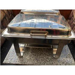 STAINLESS STEEL CHAFING DISH WITH SIDE HINGE COVER
