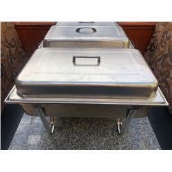 STAINLESS STEEL CHAFING DISH WITH LIFT OFF COVER