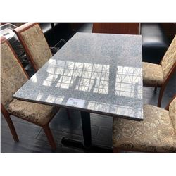 "48"" X 30"" GRANITE TOP RECTANGLE DINING TABLE"