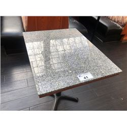 "24.5"" X 30.5"" GRANITE TOP  DINING TABLE"