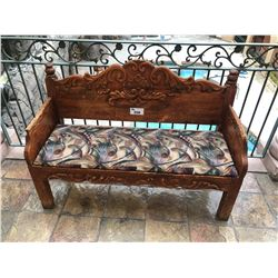 "53"" RUSTIC WOOD HALL BENCH"