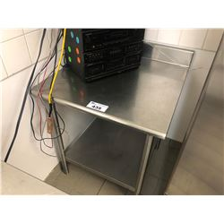 "STAINLESS STEEL 2 TIER 36"" X 30"" PREP TABLE"