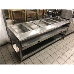 STAINLESS STEEL 5 STATION STEAM TABLE
