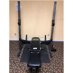 POWERTEC ADJUSTABLE WORK BENCH PRESS STATION