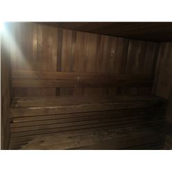 10 PERSON CEDAR SAUNA , WITH CONTROLS AND HEATER