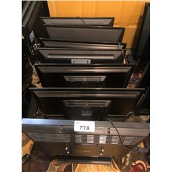 LOT OF 7  VARIOUS SIZE AND BRAND TVS